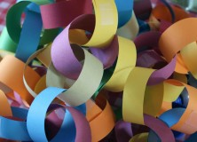 paper chain close up